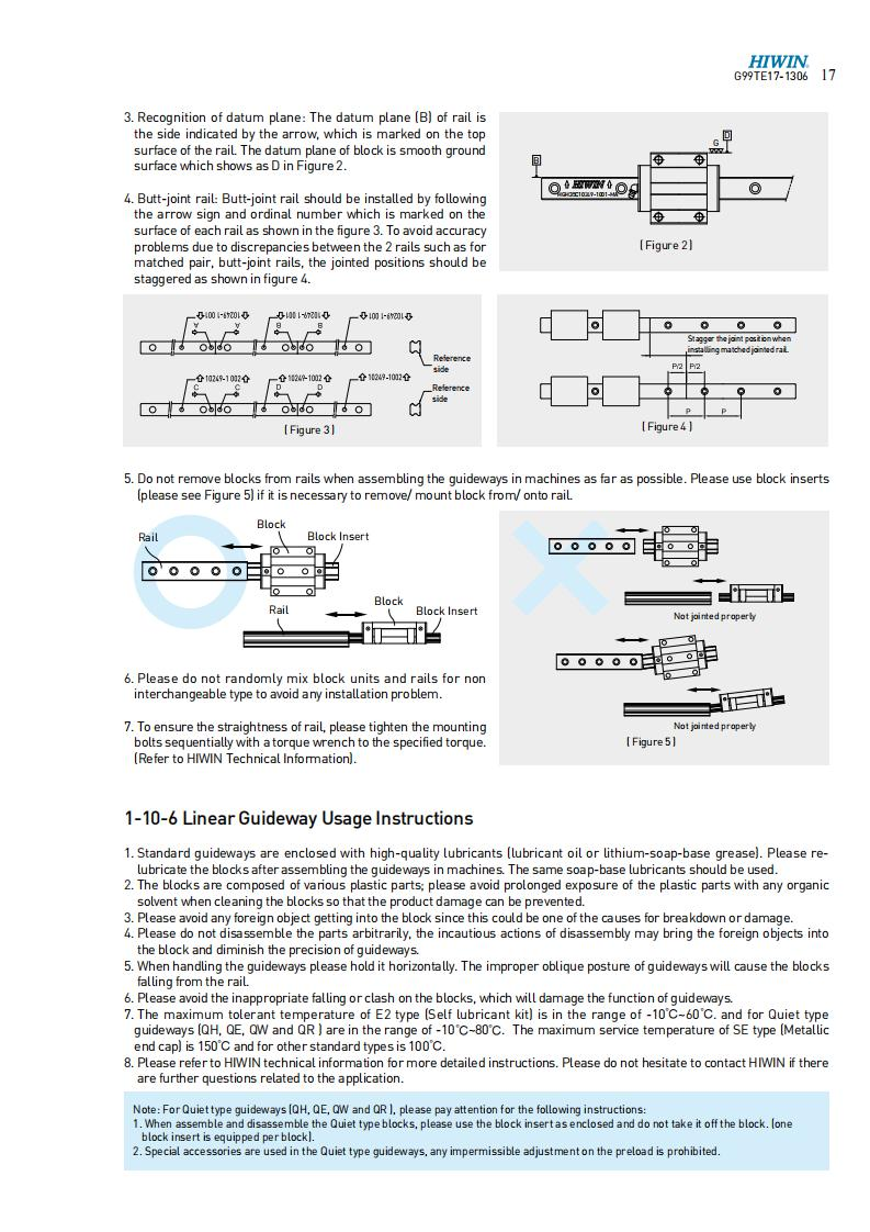 LINEAR GUIDES MOUNTING INSTRUCTION 05