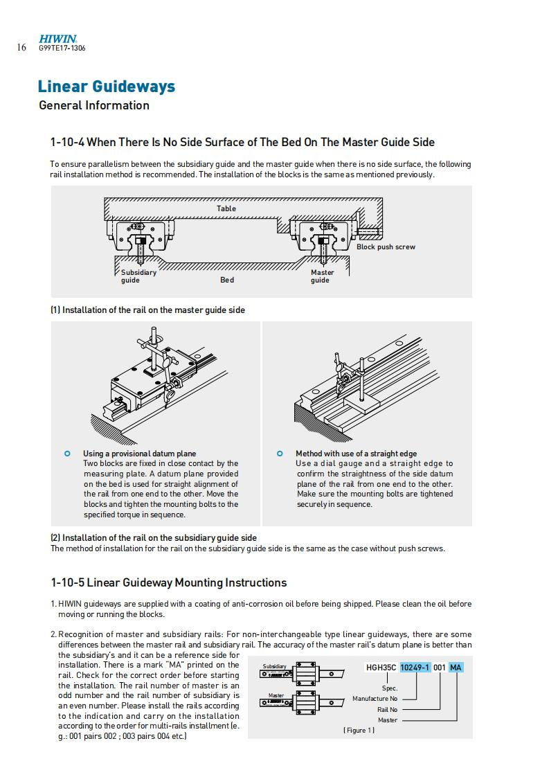 LINEAR GUIDES MOUNTING INSTRUCTION 04